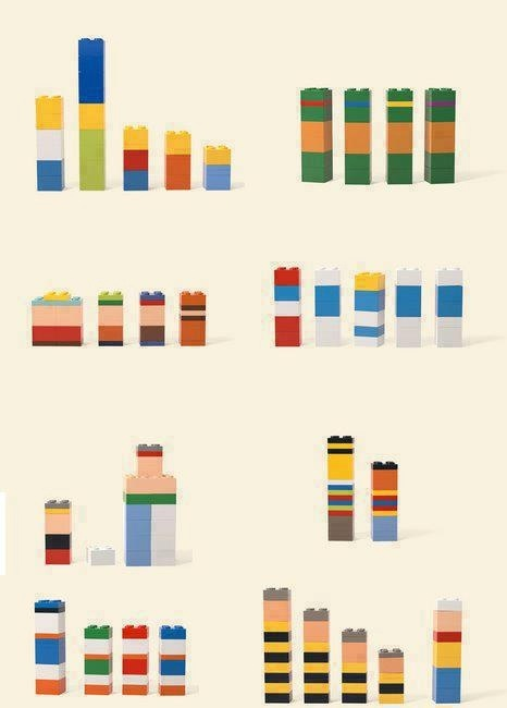 Depending on your perspective these are either poorly stacked bar charts or a child's toys.