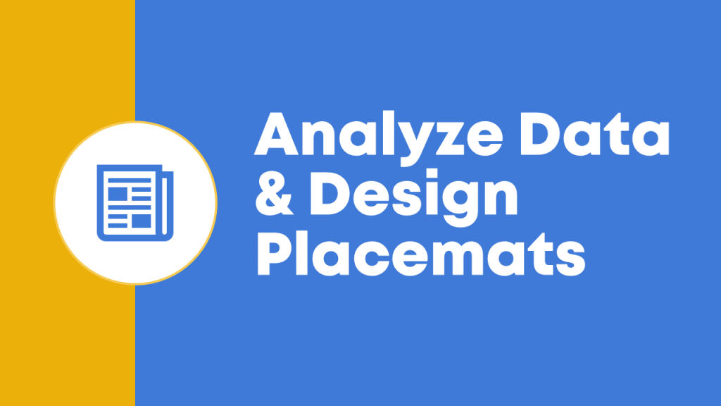 Next, make one divider slide per main topic. In this presentation, I made one divider slide for each of the three steps that I was teaching about: Analyze Data and Design Placemats, Facilitate an Interpretation Meeting, and Produce the Final Report or Slideshow.