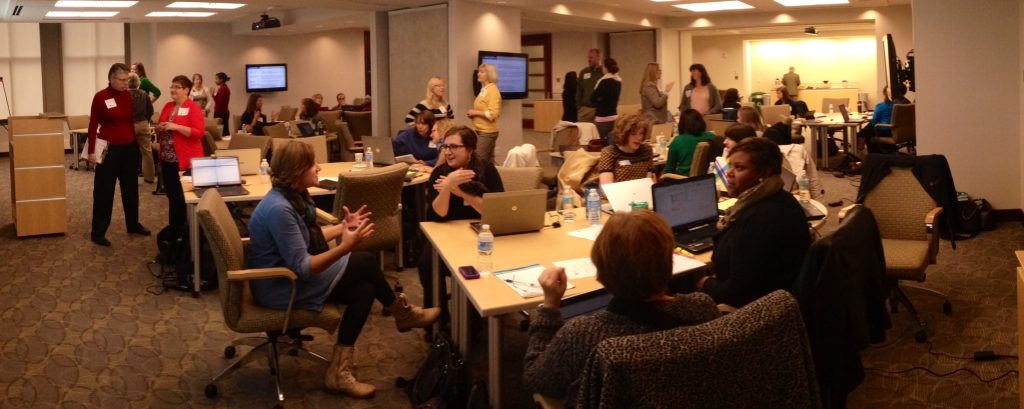 Photo from an in-person workshop led by Ann K. Emery.