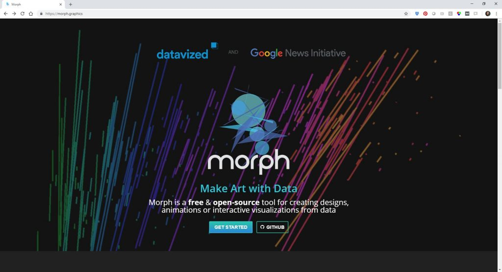 "RoBlitz mentioned Morph, which is ""a free & open-source tool for creating designs, animations or interactive visualizations from data."""