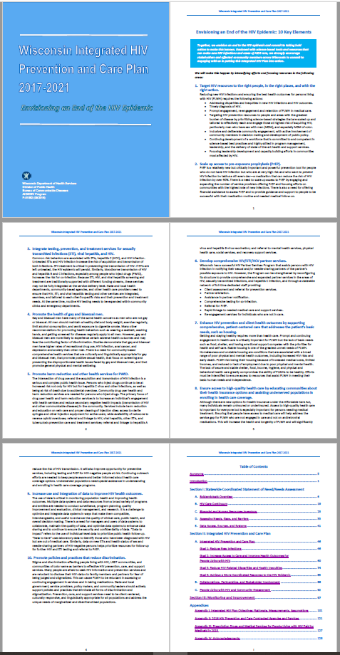 A screenshot of the first six pages of a 130-page report.