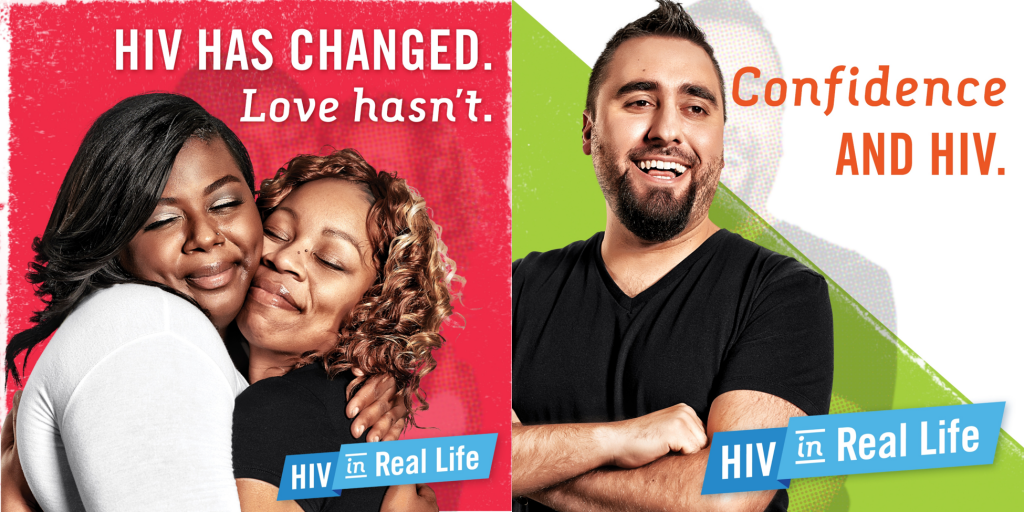 Two sample images about HIV that were used in the media campaign