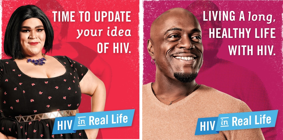 Two sample images from the media campaign.