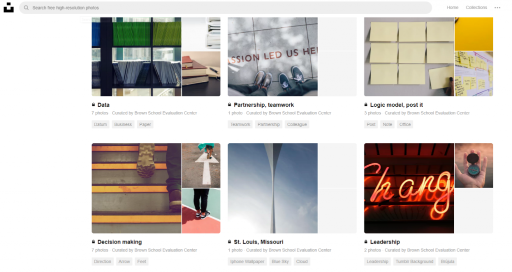This photo shows an example of Unsplash as used by an EASL team member.