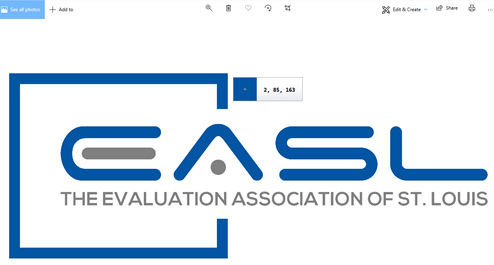 The color of the EASL logo is decoded.