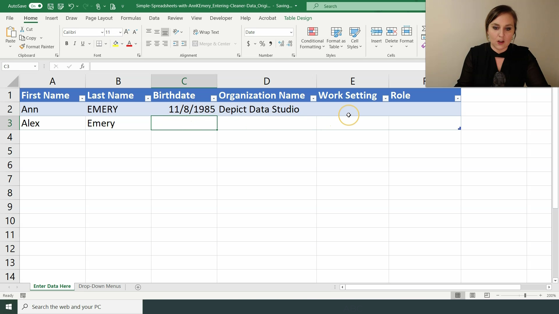 Step 3. Apply an Excel Table