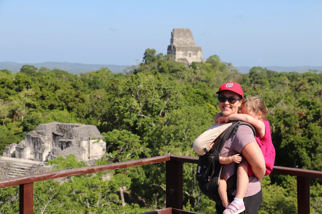 We carried the world's heaviest children through Tikal because there were just too tired to walk another step.