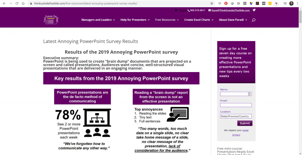 According to a 2019 Annoying PowerPoint Survey, 78% of people see 2 or more PowerPoint presentations each week.
