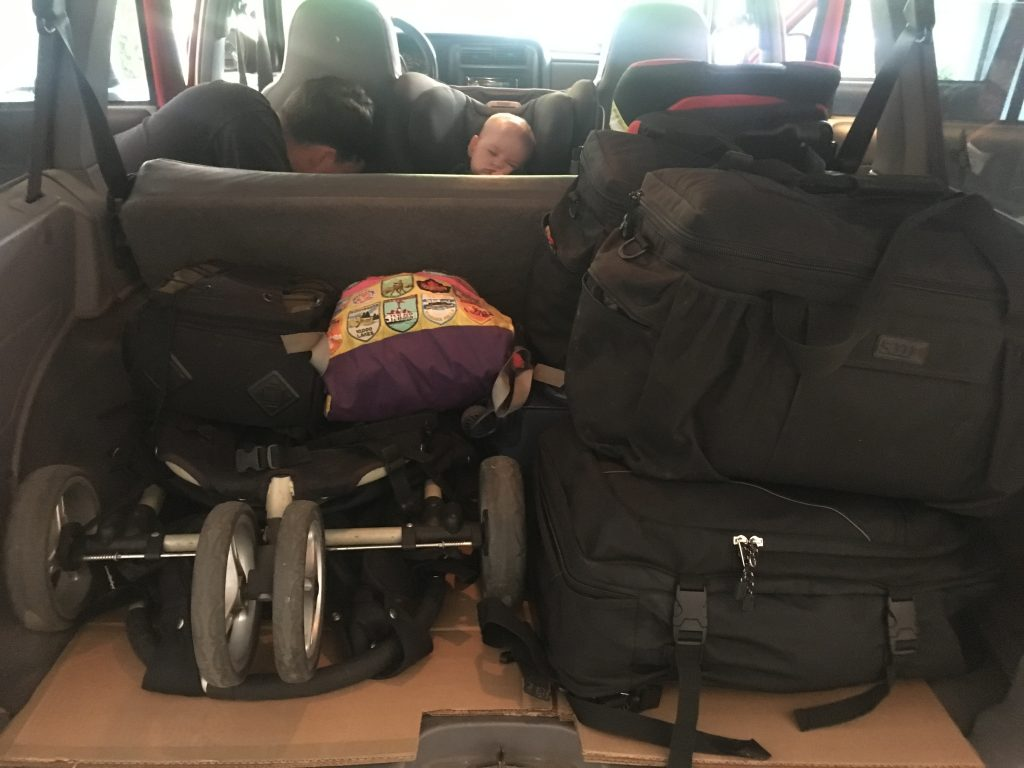 … and we fit all our bags into our Jeep with space to spare. Phew!