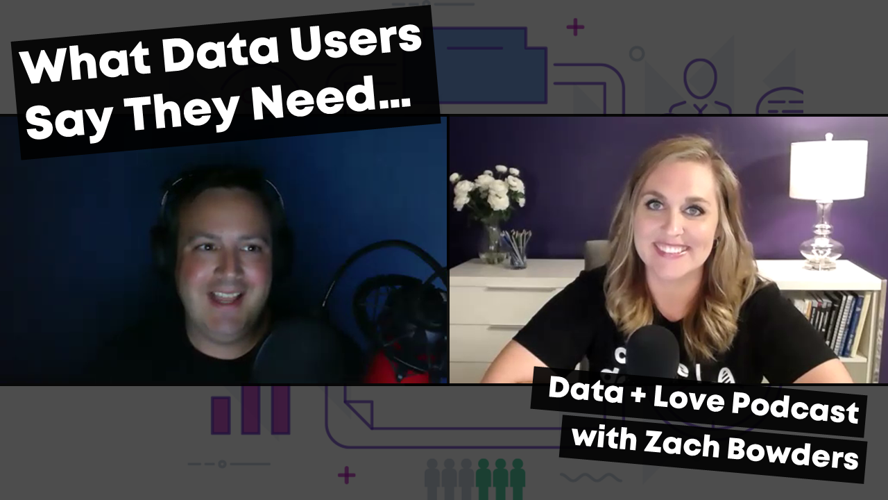 A conversation with Zach Bowders of the Data + Love podcast on how to give data users what they actually need.