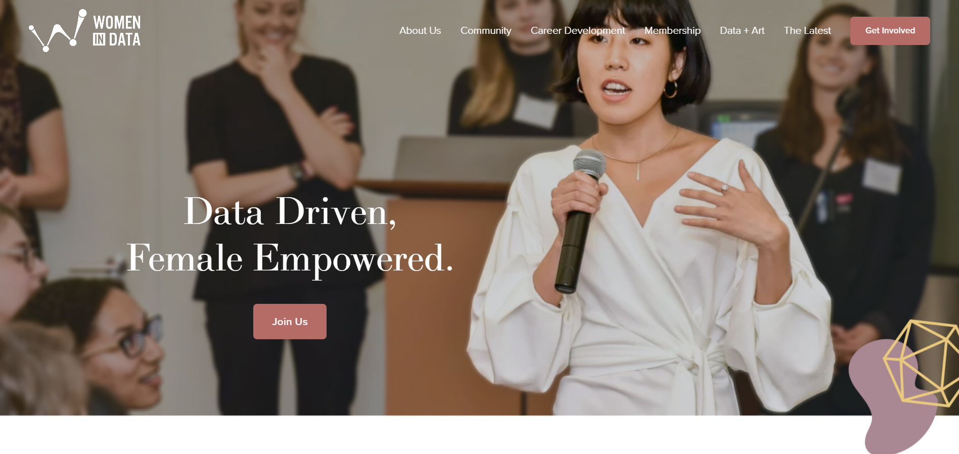 Women in Data is an international non-profit organization started in 2015 whose mission is to bring women together for career advancement and an opportunity to uplift one another