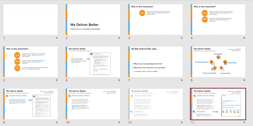 And for anyone who wants to get into more detail, we also have a 30-minute slidedeck. It uses many of the same elements as the 1-pager.